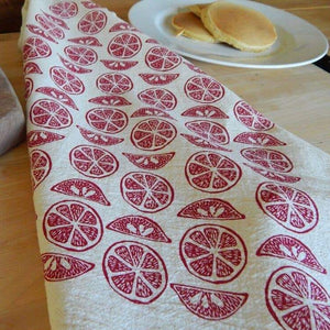 Ruby Red Tea Towel