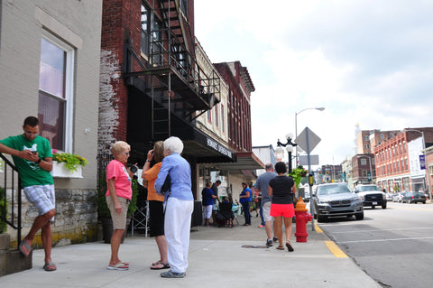 North Main Street in Winchester, KY during Scooped in 2019
