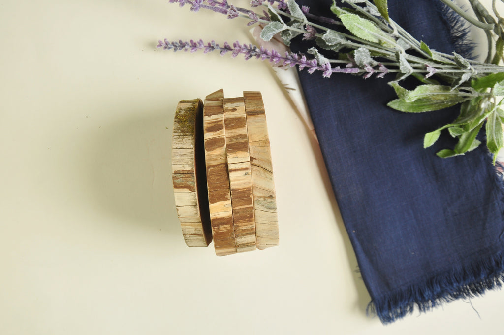 Wooden Coasters - Set of four