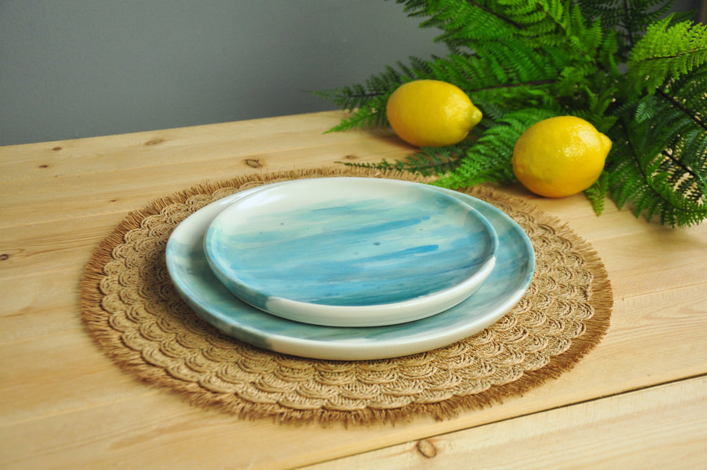 Watercolor Dinner & Lunch Plates