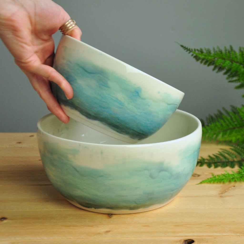 Watercolor Serving Bowls