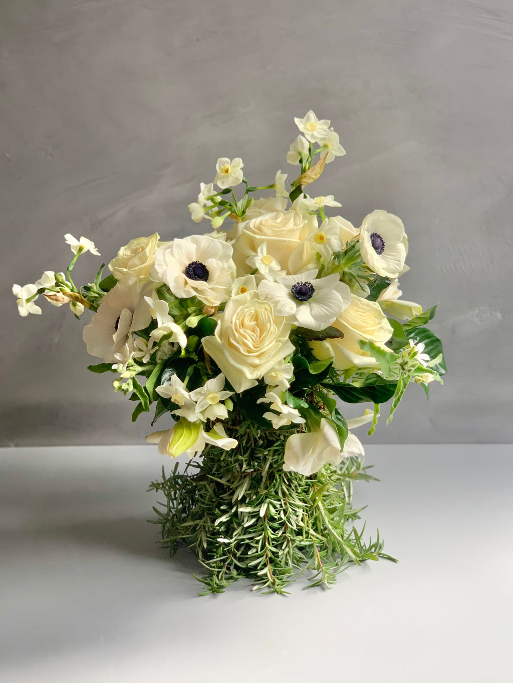 Rosemary Rhapsody flower arrangement