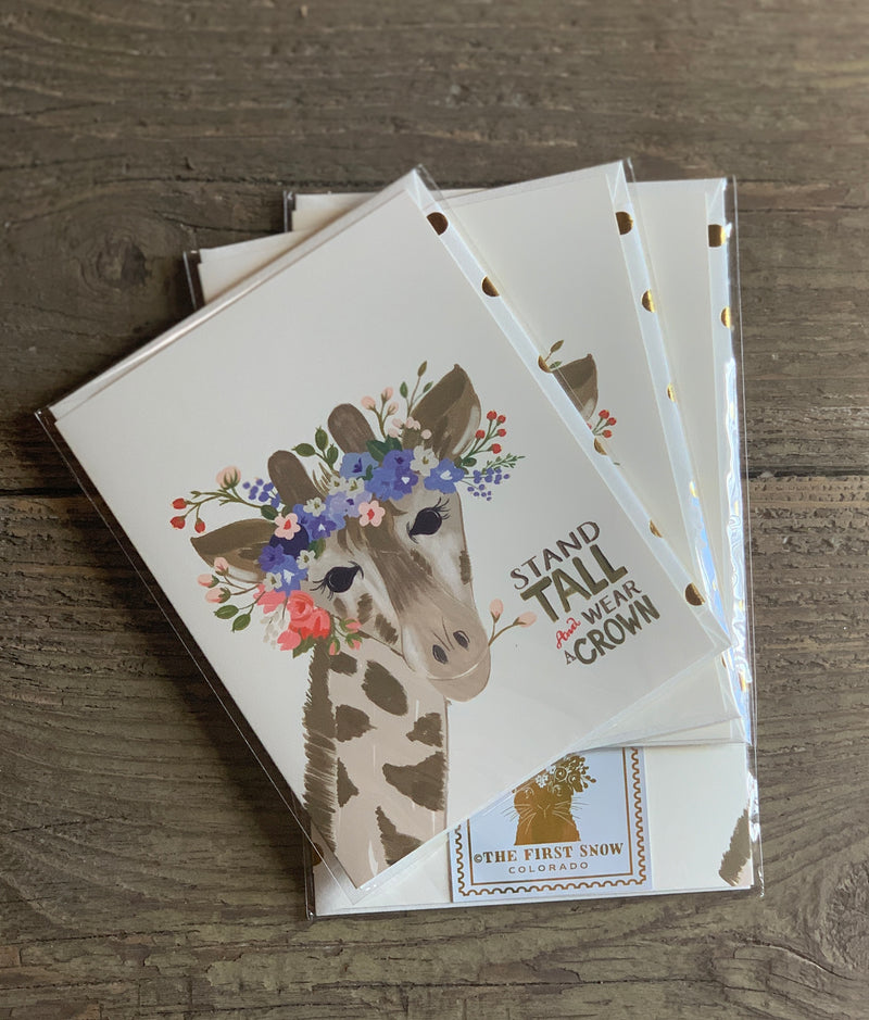 The First Snow Greeting Cards