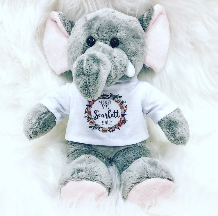 ELLIE Personalised Elephant Teddy