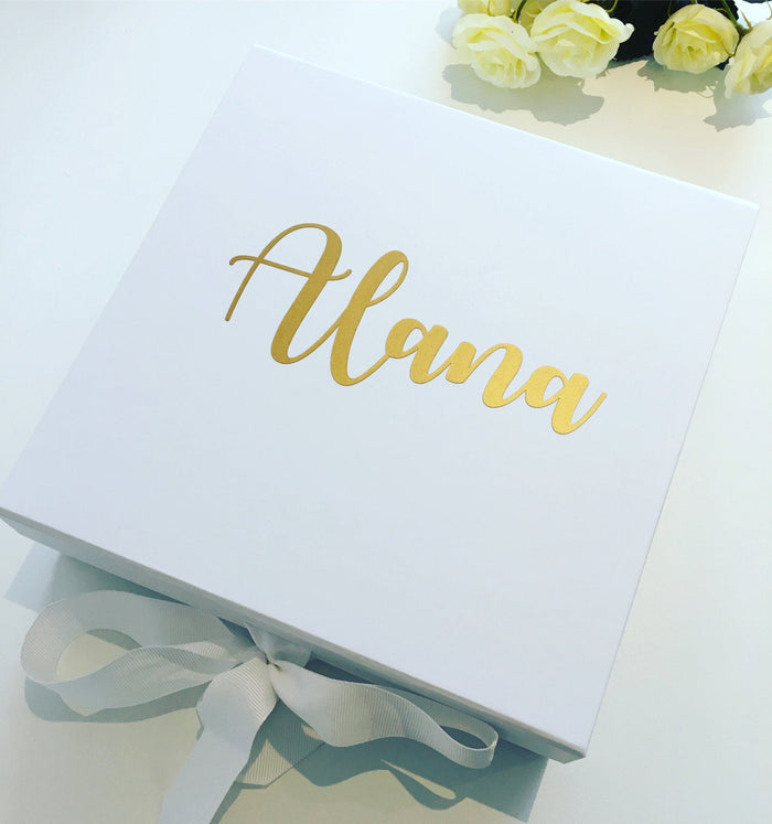 ALANA Set of 4 LARGE Personalised bridesmaid box