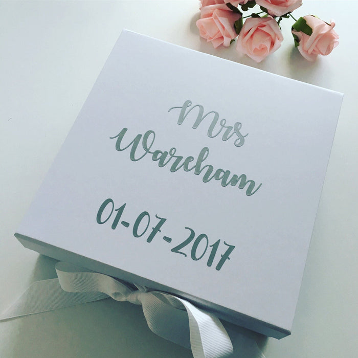 Personalised bride gift box