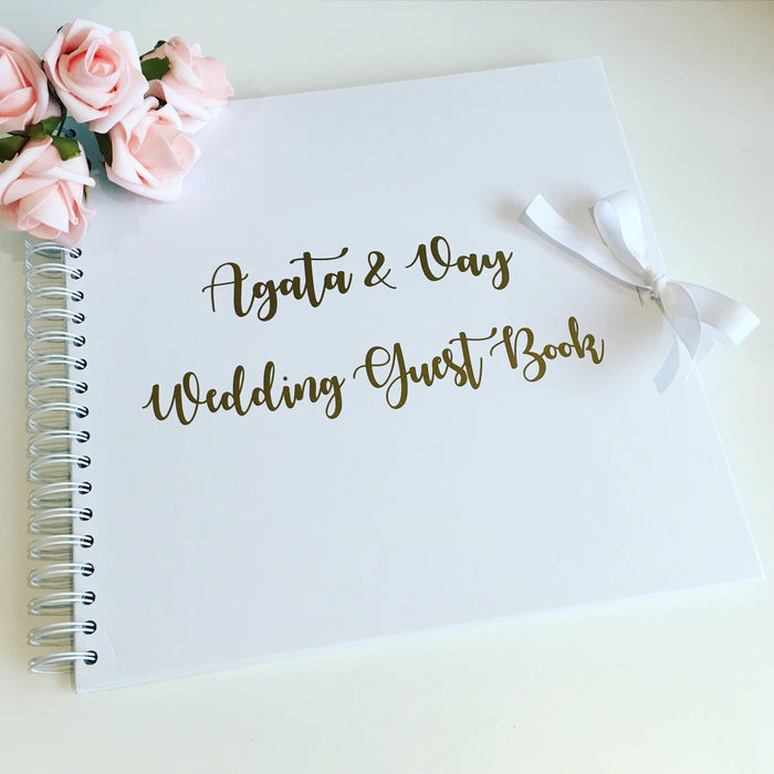 Wedding guest book, wedding album, wedding scrapbook, memory book, large size