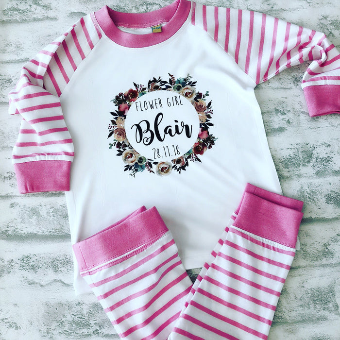 LACEY Personalised Flower Girl Pyjamas