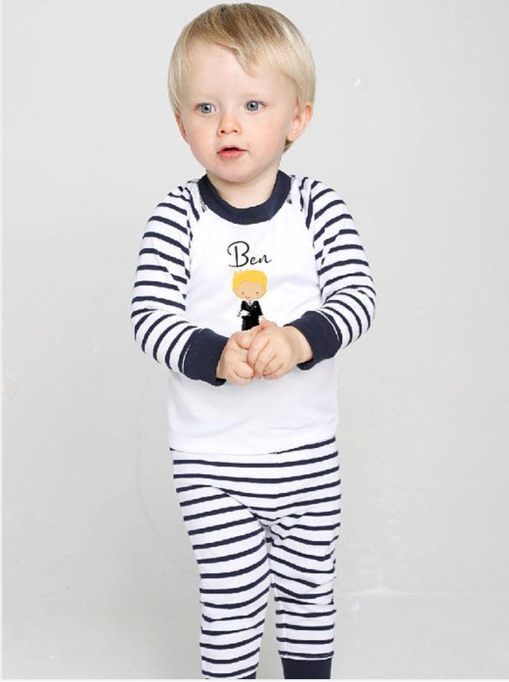 Personalised Page Boy Pyjamas The Bespoke Wedding Gift Company
