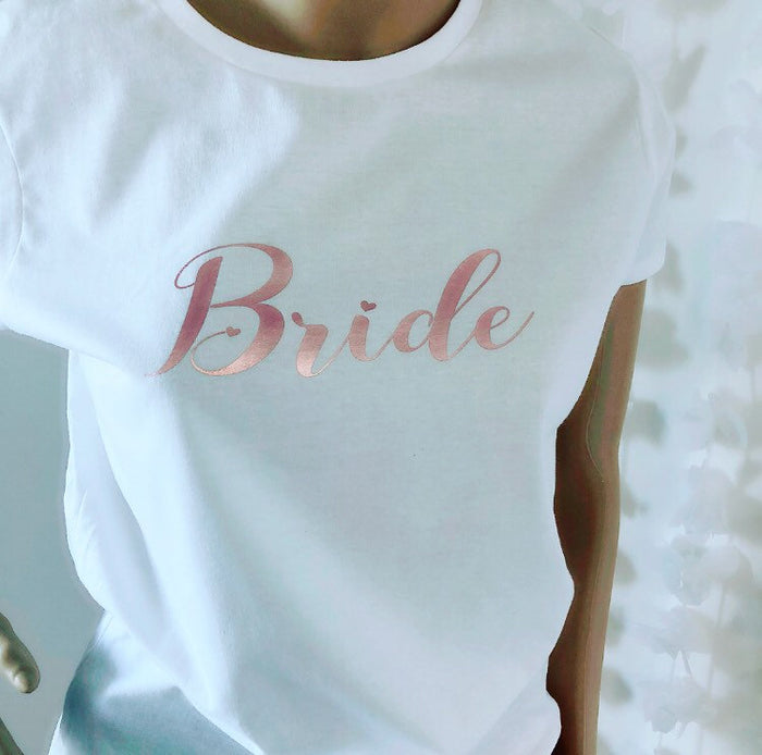 Bride Slogan T-shirt The Bespoke Wedding Gift Company