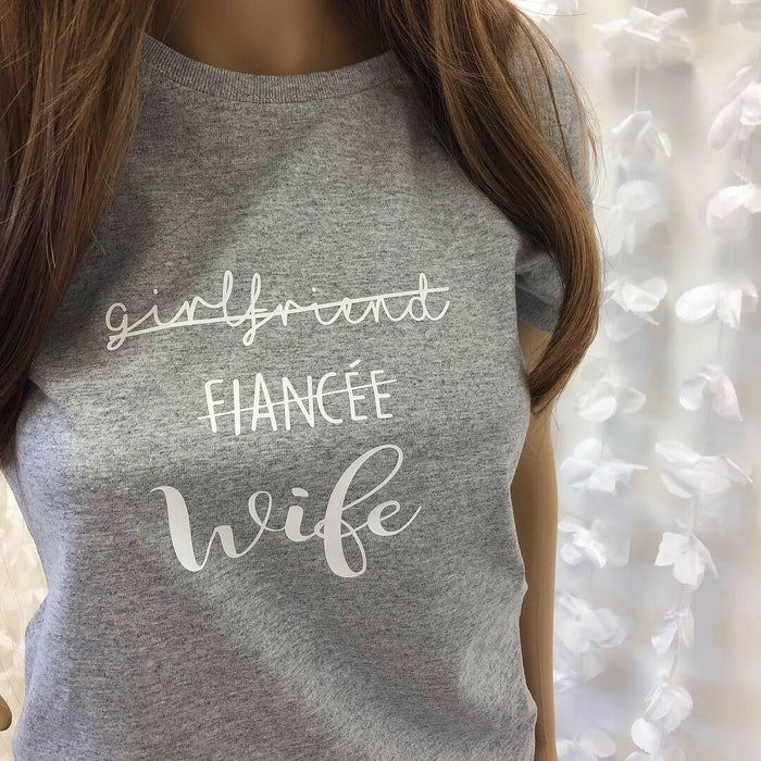 Girlfriend Fiancée Wife T-shirt The Bespoke Wedding Gift Company