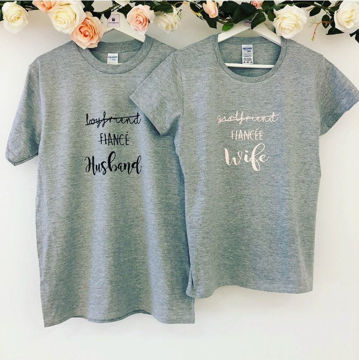 Boyfriend Fiancé Husband T-shirt