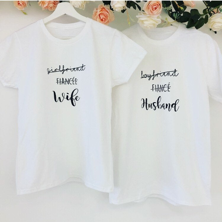 Couple's Honeymoon T-shirt Set The Bespoke Wedding Gift Company