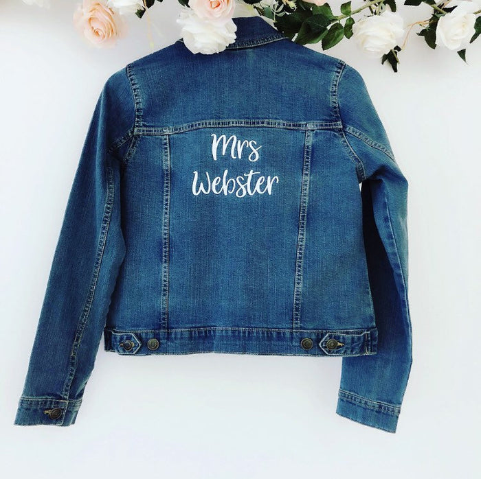 Personalised Bride Denim Jacket