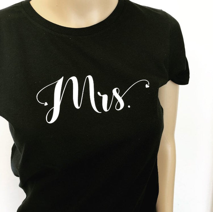 Personalised New Mrs T-shirt