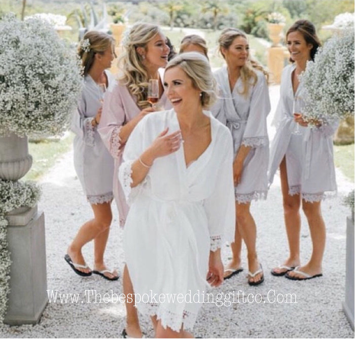 PEARL LACEY Robes The Bespoke Wedding Gift Company