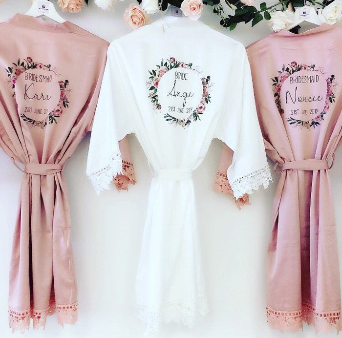 CHARLOTTE robes with romantic wreath