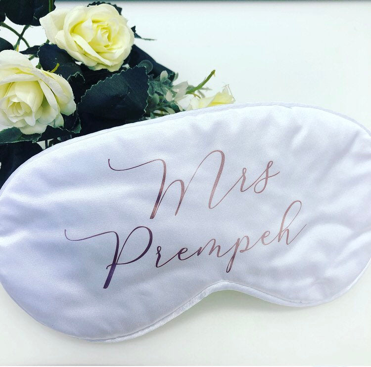 CATHERINE Personalised sleep eye mask for the new Mrs