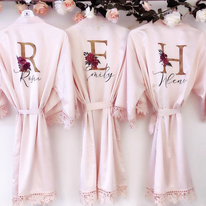 SUSIE bridal robes with GOLD initials