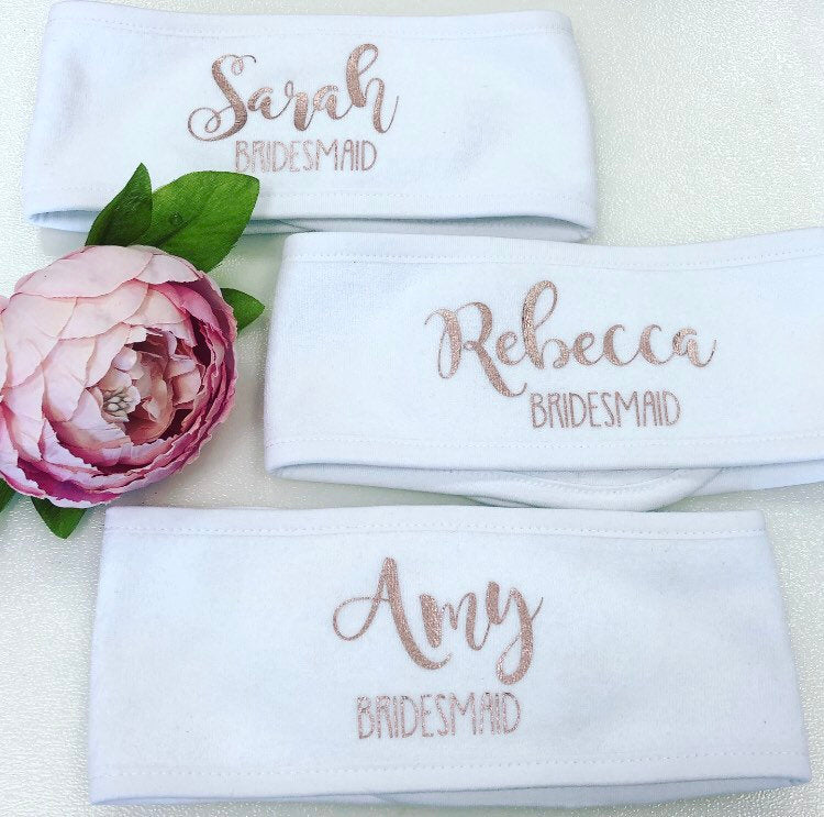 Personalised Spa Headbands The Bespoke Wedding Gift Company