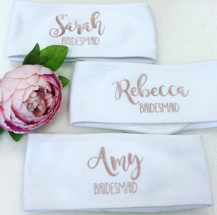 Personalised Spa Headbands