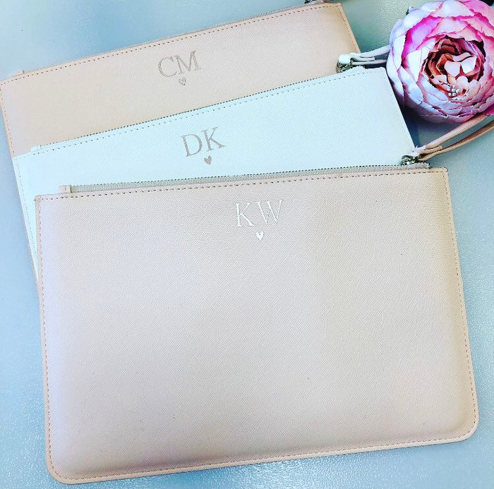 DARCIE Personalised Clutch Bag with Initials