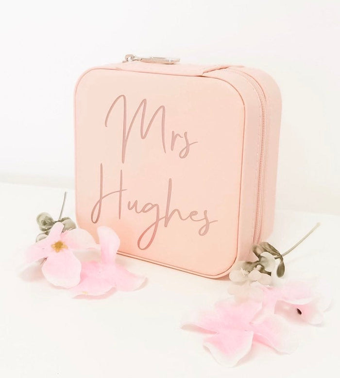 MRS Personalised Travel Jewellery Box