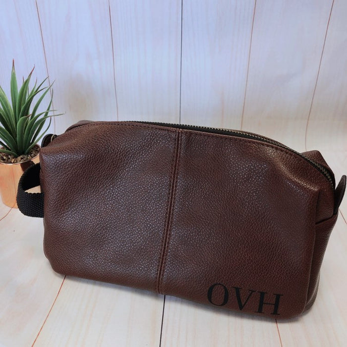 Personalised wash bag for men with initials
