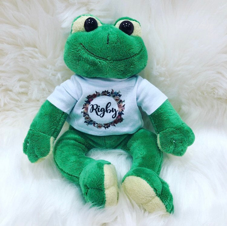 FREDDIE Personalised Frog Teddy