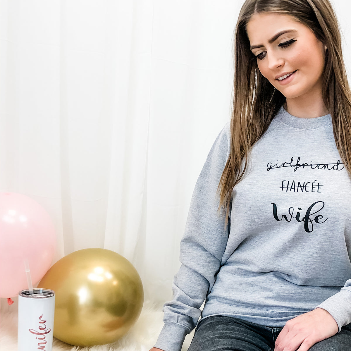 Girlfriend Fiancée Wife Sweatshirt The Bespoke Wedding Gift Company