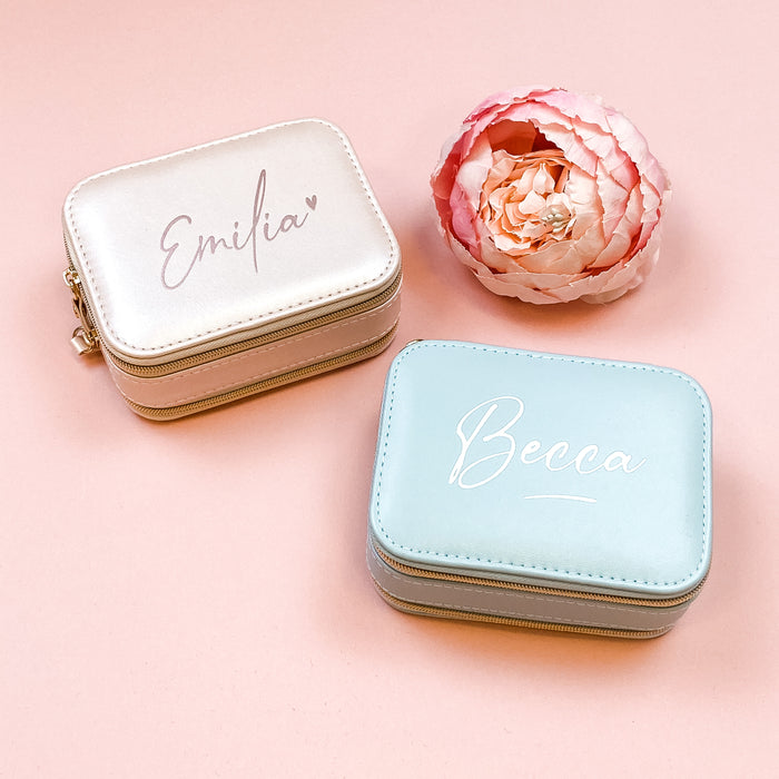 MIRA jewellery box with mirror and 2 compartments