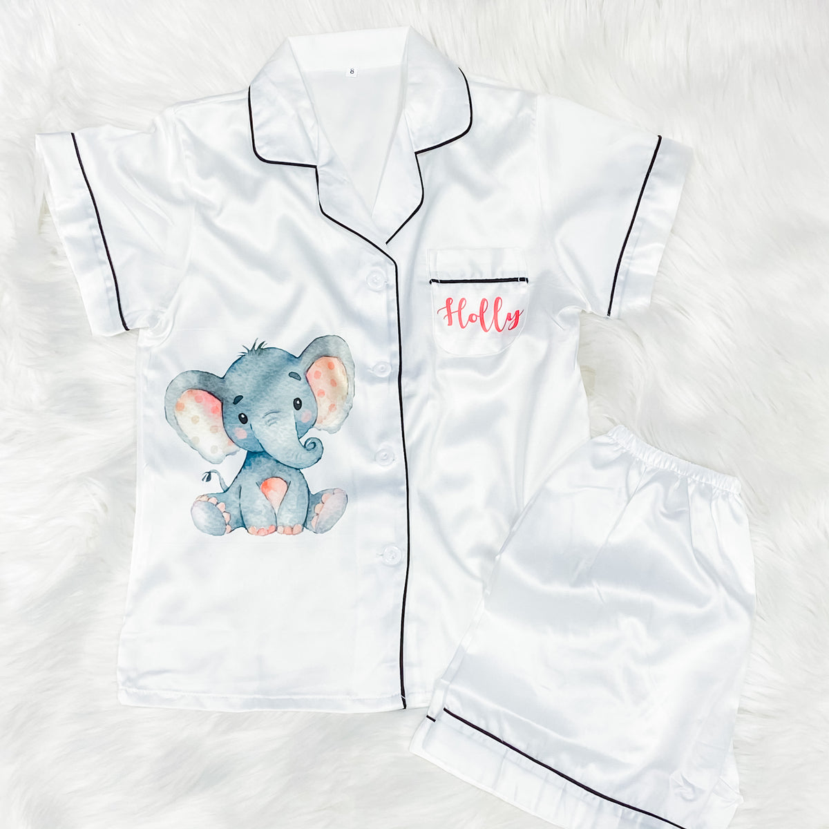 ELLIE satin personalised pyjamas for children