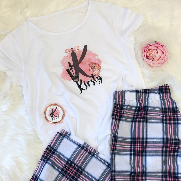 LOLA Makeup Alphabet Pyjamas with Shorts or Long trousers