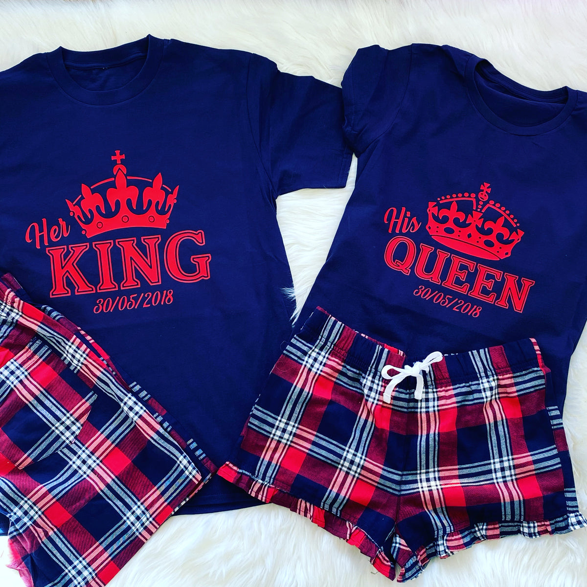 His Queen and Her King pyjamas set