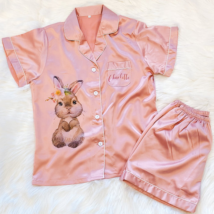 ALEXA satin personalised pyjamas for children