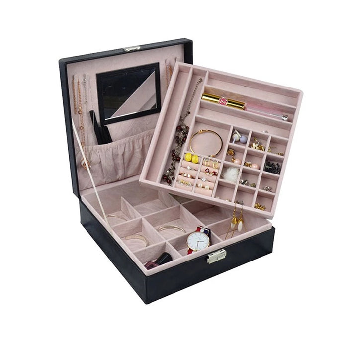 CAROLINE Large Luxury Jewellery Box The Bespoke Wedding Gift Company