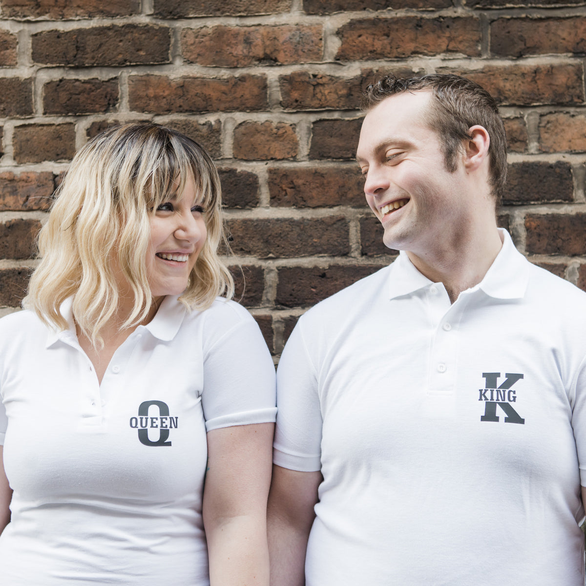 King and Queen Polo style T-shirt Set