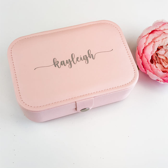 ZARA Personalised Rectangle Travel Jewellery Box