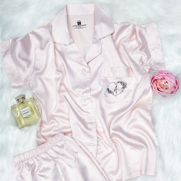 JOSIE short sleeve + shorts satin pyjamas