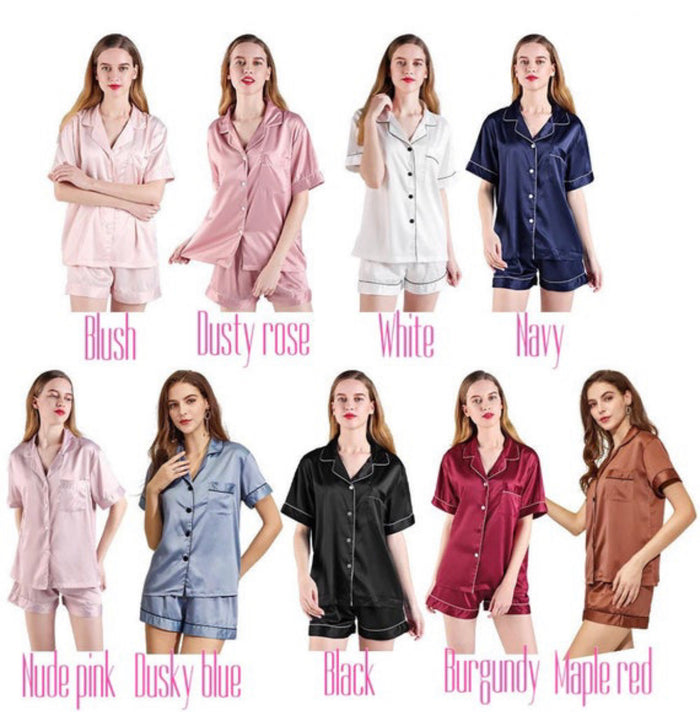 LOUISE short sleeve + shorts satin pyjamas