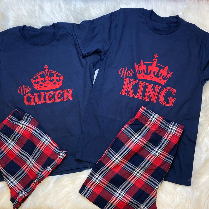 His Queen and Her King pyjamas set The Bespoke Wedding Gift Company