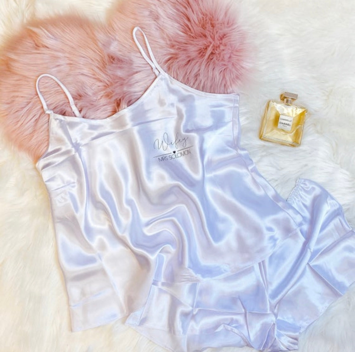 EMILY satin cami set