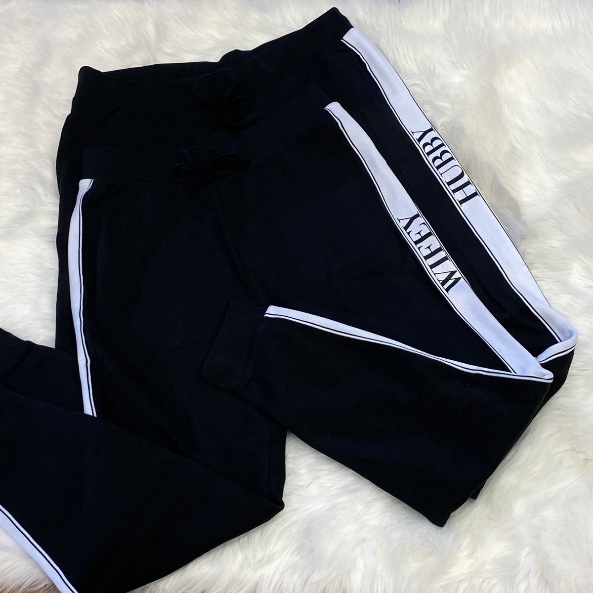 Hubby Wifey matching jogging bottoms The Bespoke Wedding Gift Company