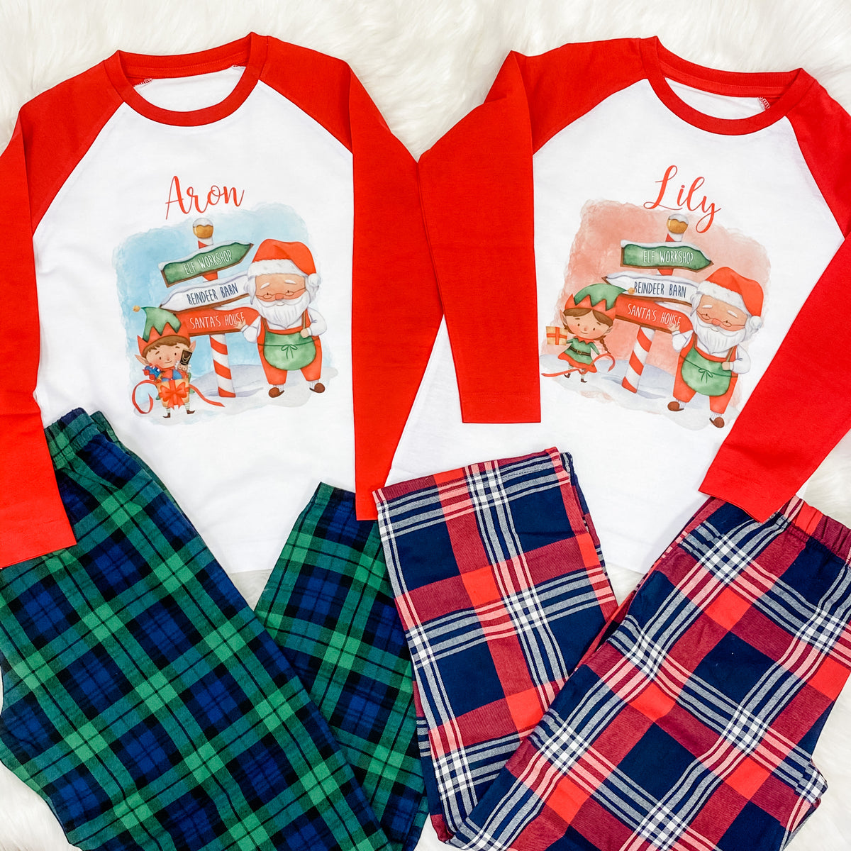 LONG SLEEVE Family Pyjamas with ELF design