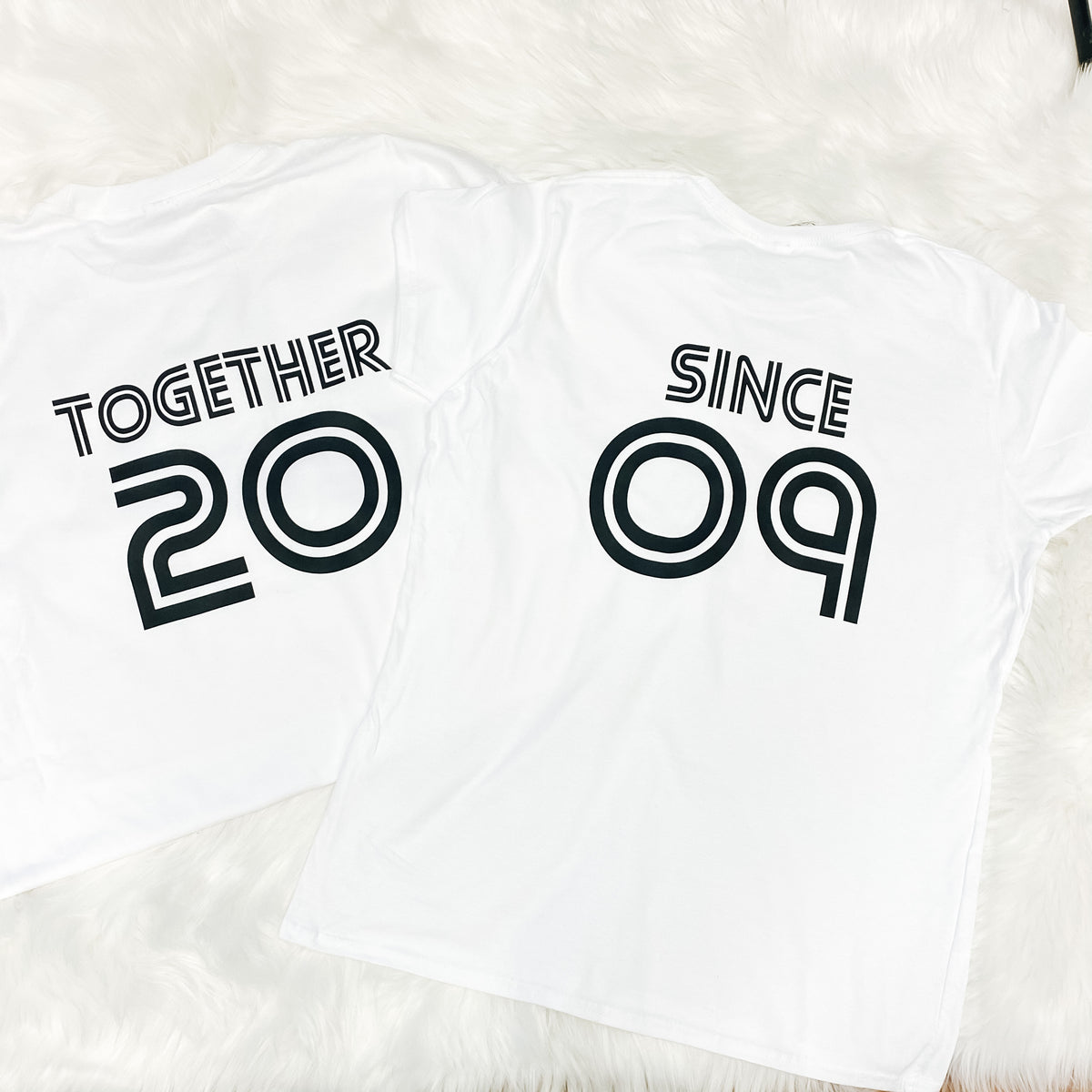 Together Since Couple's T-shirt Set