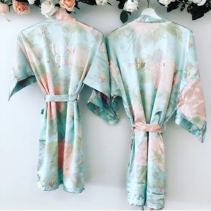 KIRSTY Floral Satin Robes
