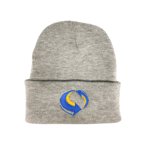 Livemixtapes Beanie (Heather Grey/Blue/Yellow)