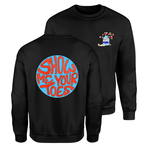 Show Me Your Toes Sweater - Black