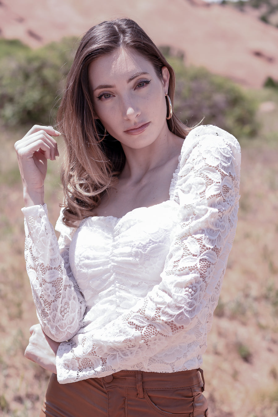 Long Sleeve Lace Formal Bodysuit