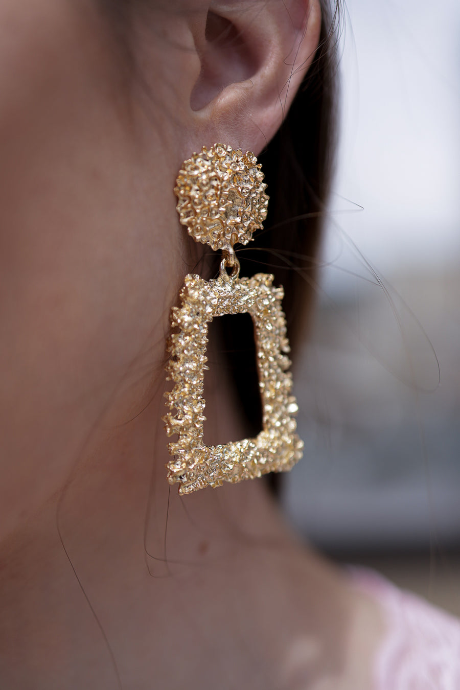 Modern Square Drop Earrings